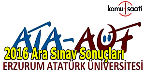 ATA AÖF vize sonuçları açıklandı mı? 3-4 Aralık 2016