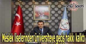 Meslek liselerinden üniversiteye geçiş hakkı kalktı