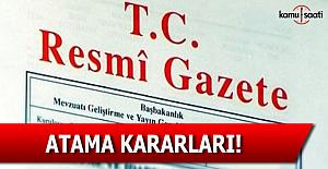 12 Ocak 2017 tarihli Atama Kararları