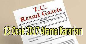 13 Ocak 2017 tarihli Atama Kararları