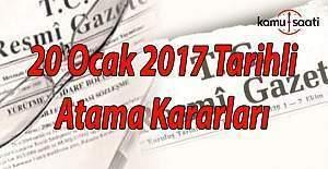 20 Ocak 2017 tarihli Atama Kararları