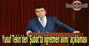 Yusuf Tekin'den 'Şubat'ta öğretmen alımı' açıklaması