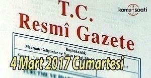 4 Mart 2017 tarihli ve 29997 sayılı Resmi Gazete