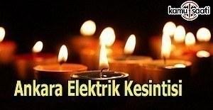 Ankara elektrik kesintisi - 24 Mart 2017 Cuma