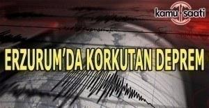 Erzurum'da 4,1 büyüklüğünde deprem