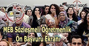 MEB Sözleşmeli Öğretmenlik - Ön Başvuru ekranı