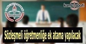 Sözleşmeli öğretmenliğe ek atama yapılacak