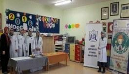 Ahmet Sani Gezici Kız Anadolu İmam Hatip Lisesi öğrencileri Bilim Kulübünden 'Hazarfen Eğlenceli Bilim Okulu' projesi