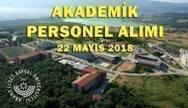 Abant İzzet Baysal Üniversitesi Akademik Personel Alım İlanı - 22 Mayıs 2018