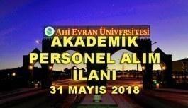 Kırşehir Ahi Evran Üniversitesi 33 Akademik Personel Alım İlanı - 31 Mayıs 2018