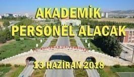 Adıyaman Üniversitesi 18 Akademik Personel Alımı - 13 Haziran 2018