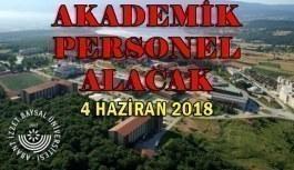 Bolu Abant İzzet Baysal Üniversitesi Sözleşmeli Personel Alacak- 4 Haziran 2018