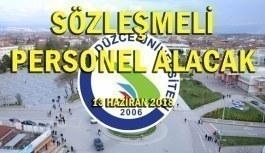 Düzce Üniversitesi Sözleşmeli Personel Alımı - 13 Haziran 2018