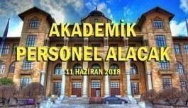Gazi Üniversitesi Akademik Personel Alacak - 11 Haziran 2018