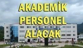 Giresun Üniversitesi Akademik Personel Alımı - 19 Haziran 2018