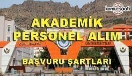 Gümüşhane Üniversitesi 14 Akademik Personel Alımı - Başvuru şartları