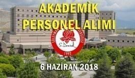 Süleyman Demirel Üniversitesi 32 akademik personel alımı - 6 Haziran 2018
