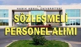 Tekirdağ Namık Kemal Üniversitesi 56 Sözleşmeli Personel Alımı - 18 Haziran 2018