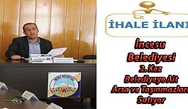 Kayseri İncesu Belediyesinden İhale İlanı 20 adet Arsa ve Taşınmazların Satışı