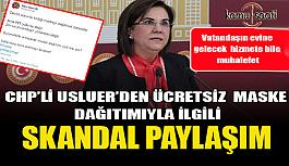 CHP'li Gaye Usluer'den ücretsiz maske dağıtımına skandal muhalefet! .
