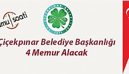 Isparta Çiçekpınar Belediye Başkanlığı 4 Memur Personel Alımı