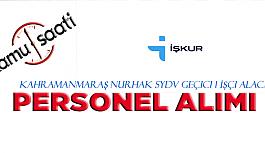 Kahramanmaraş Nurhak SYDV Geçici 1 İşçi Alacak  Elemanı Alım İlanı İş Başvuru Formu