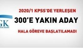 SGK, 2020/1 KPSS'de yerleşen 300 adayı hala başlatmadı
