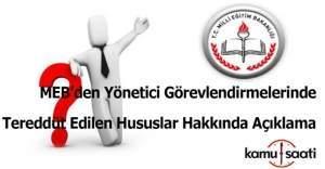 MEB'den Yönetici Görevlendirmelerinde Tereddüt Edilen Hususlar Hakkında açıklama
