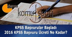 2016 KPSS başvuruları başladı - KPSS başvuru ücreti ne kadar? ÖSYM açıklaması