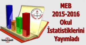 MEB 2015-2016 okul istatistiklerini yayımladı