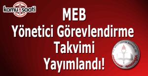 MEB Yönetici Görevlendirme Takvimi yayımlandı!