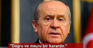 Bahçeli, tutuklanan HDP'liler için açıklama yaptı