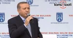 Cumhurbaşkanı Erdoğan, Ankara'daki toplu açılış töreninde konuştu