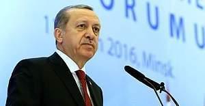 Erdoğan: ''Türk Milleti ekonomik darbe teşebbüslerine karşı da devletinin yanında oldu.''