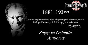 Kamu Saati olarak Atatürk'ü Rahmet'le anıyoruz