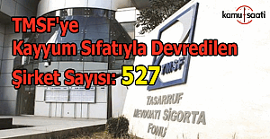 TMSF'ye kayyum sıfatıyla devredilen şirket sayısı açıklandı: 527
