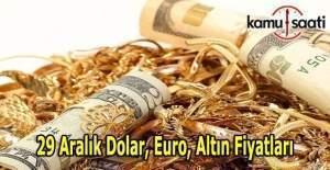 29 Aralık 2016 Dolar, Euro ve Altın Fiyatları