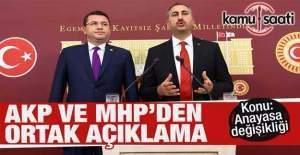 AKP ve MHP'den Anayasa Değişikliğiyle ilgili ortak açıklama
