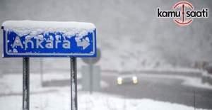Ankara ve Eskişehir için kar yağışı uyarısı