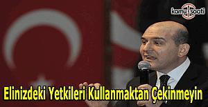 """Bakan Soylu'dan polislere; """"Elinizdeki yetkileri kullanmakta imtina etmeyin"""""""