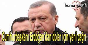 Cumhurbaşkanı Erdoğan'dan dolar için yeni çağrı