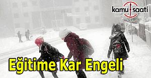 Eğitime kar engeli - 8 Aralık 2016 kar tatili olan il ve ilçeler
