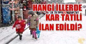 Yarın okullar tatil mi? 22 Aralık Perşembe kar tatili olan illerin listesi