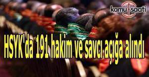 HSYK'da 191 hakim ve savcı açığa alındı