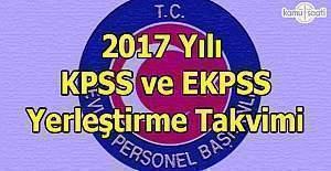 2017 KPSS ve EKPSS yerleştirme takvimine ilişkin açıklama