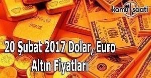 20 Şubat Pazartesi Dolar, Euro ve Kapalı Çarşı Altın Fiyatları
