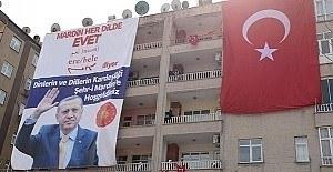 Mardin'de 4 dilde Erdoğan karşılaması