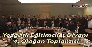 Yozgatlı Eğitimciler Divanı 4. Olağan Toplantısı Ankara'da gerçekleşti