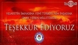 Eğitim-Bir-Sen'den Türk Milletine Teşekkür