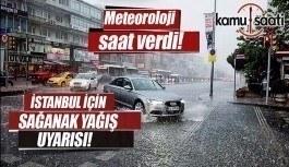 İstanbul'a kuvvetli yağış uyarısı